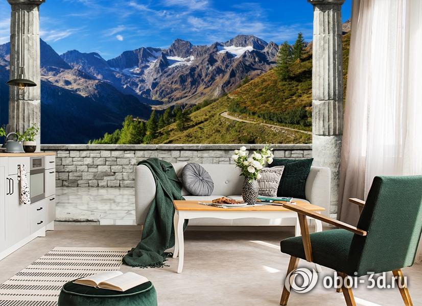 3D Фотообои «Вид на горные вершины» вид 4