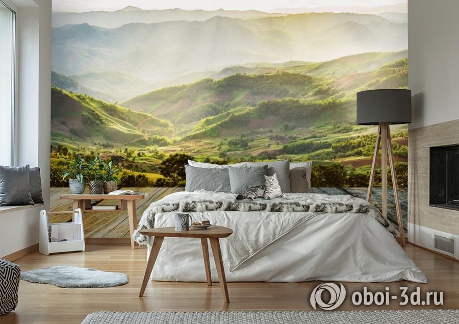 3D Фотообои «Зеленая долина» вид 6