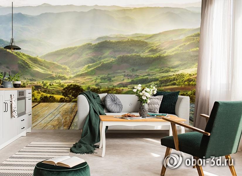3D Фотообои «Зеленая долина» вид 4