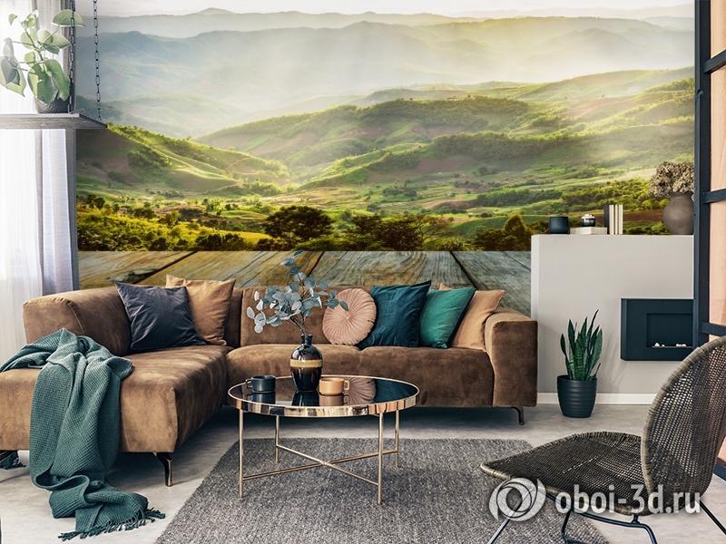 3D Фотообои «Зеленая долина» вид 2