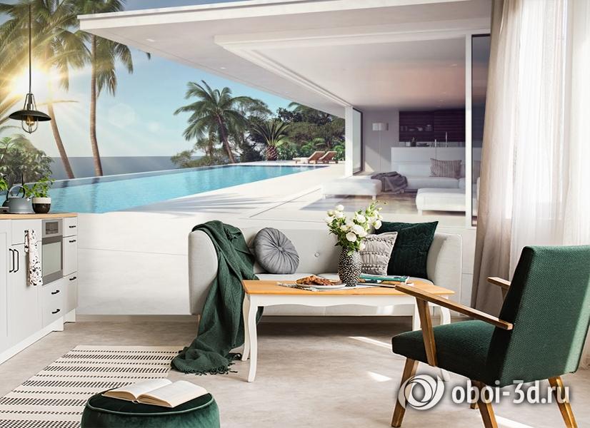 3D Фотообои «Терраса в современном доме» вид 4