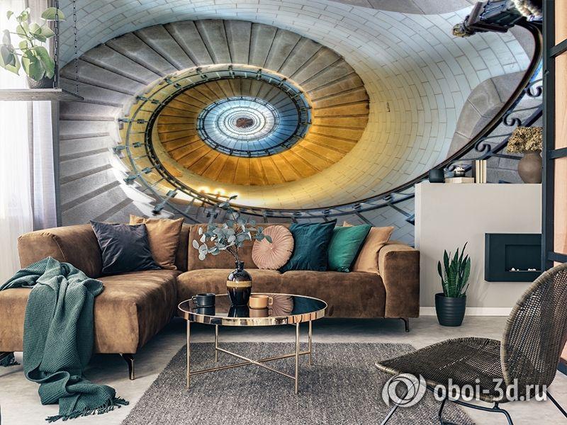 3D Фотообои «Винтажная лестница» вид 8