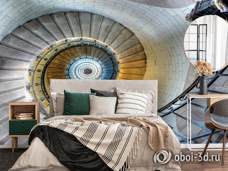 3D Фотообои «Винтажная лестница» вид 6