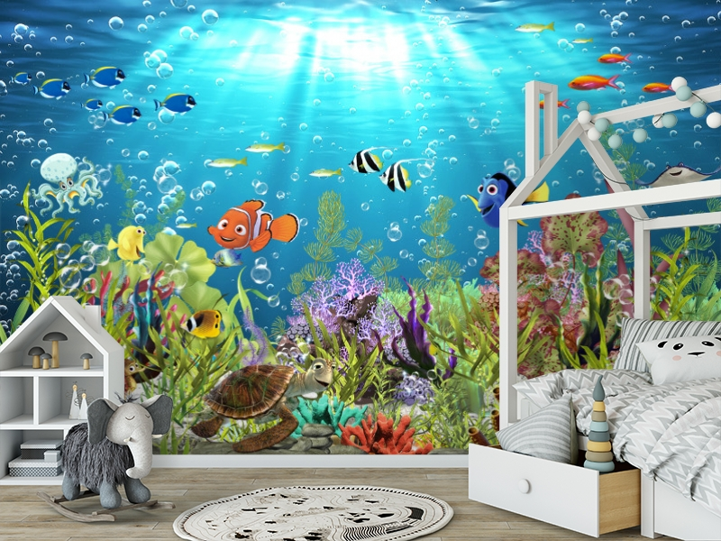 3D Фотообои «Забавные рыбки» вид 6