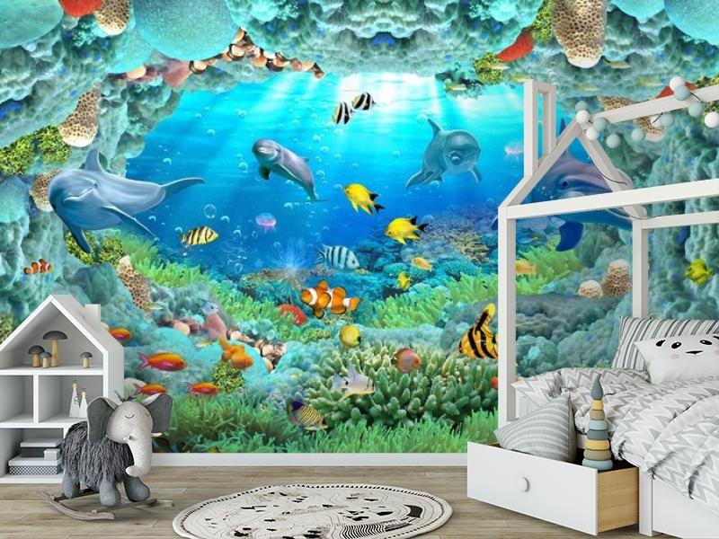 3D Фотообои «Разноцветные морские обитатели» вид 6