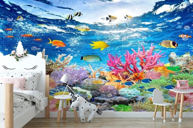 3D Фотообои «Яркие краски кораллового рифа» вид 4