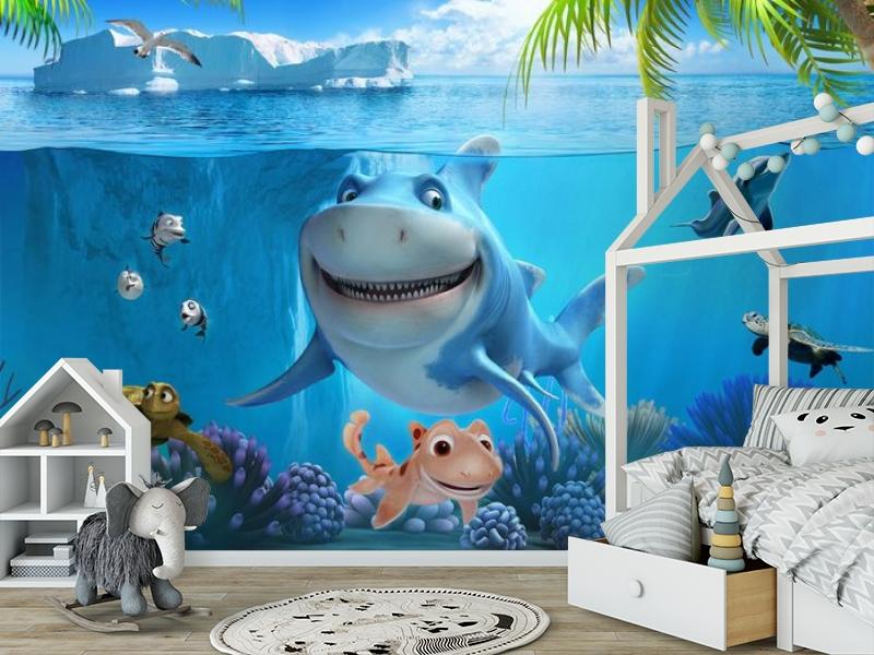 3D Фотообои «Улыбающиеся рыбки» вид 6
