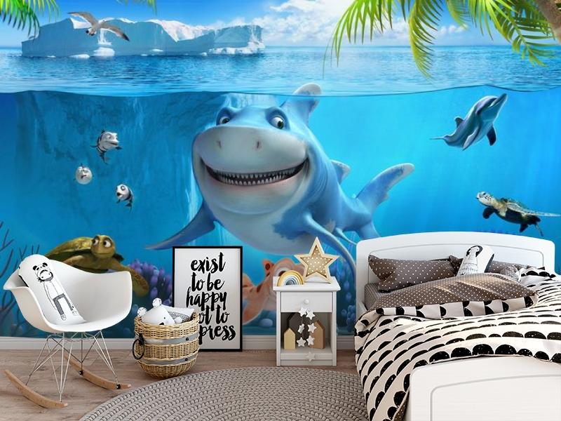 3D Фотообои «Улыбающиеся рыбки» вид 5