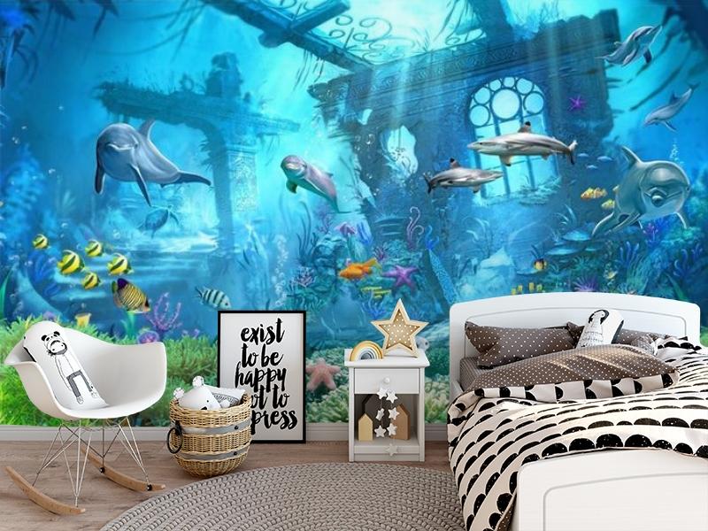 3D Фотообои «Подводные развалины» вид 5