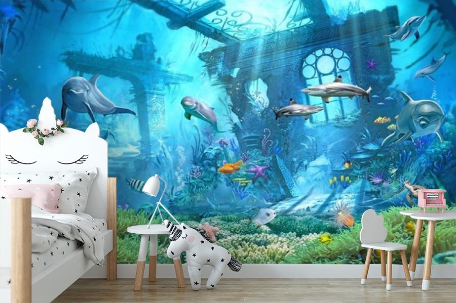 3D Фотообои «Подводные развалины» вид 4