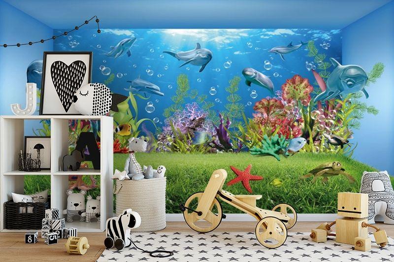 3D Фотообои «Газон под водой» вид 2