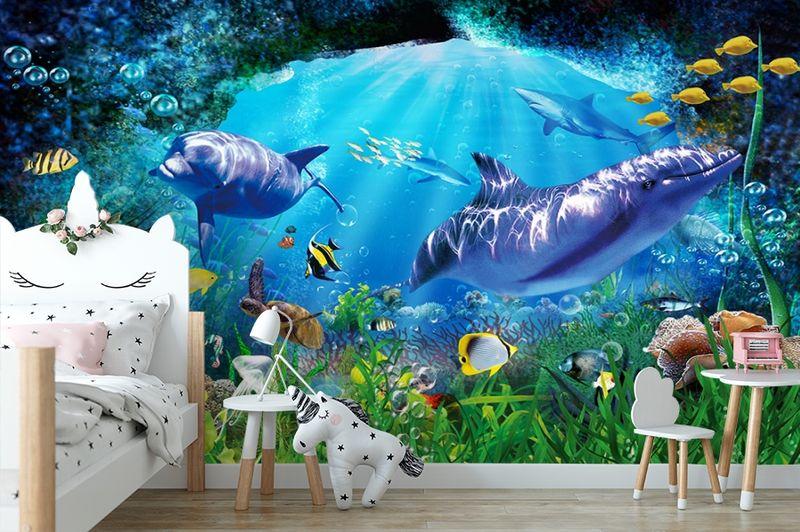 3D Фотообои «Глубоко под водой» вид 4
