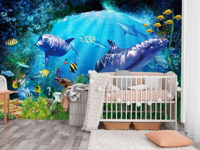 3D Фотообои «Глубоко под водой» вид 3