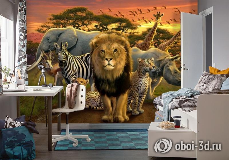 3D Фотообои «Животные саванны» вид 4