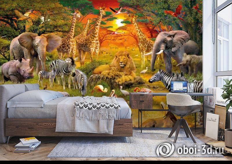 3D Фотообои «Животные Африки» вид 5