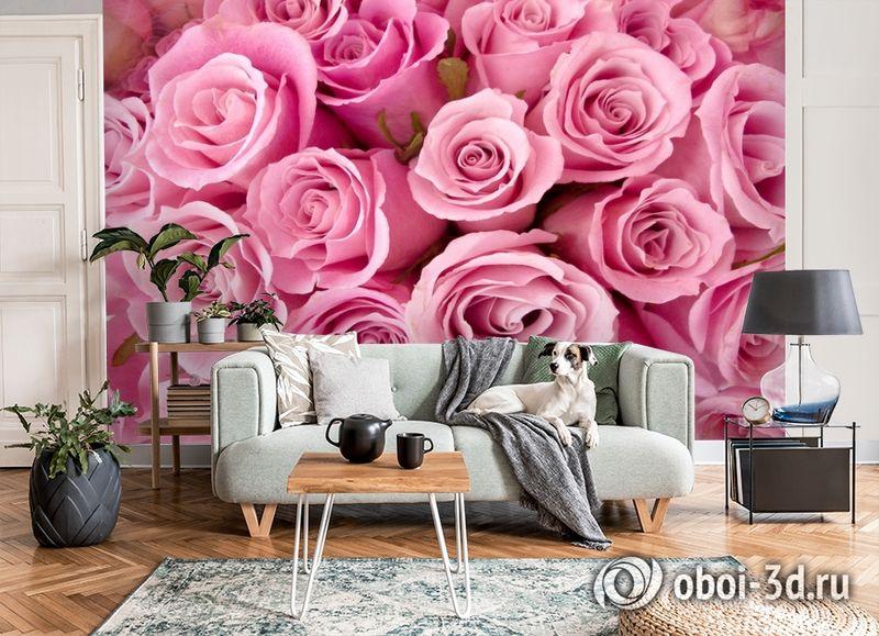 3D Фотообои «Розовые розы» вид 8
