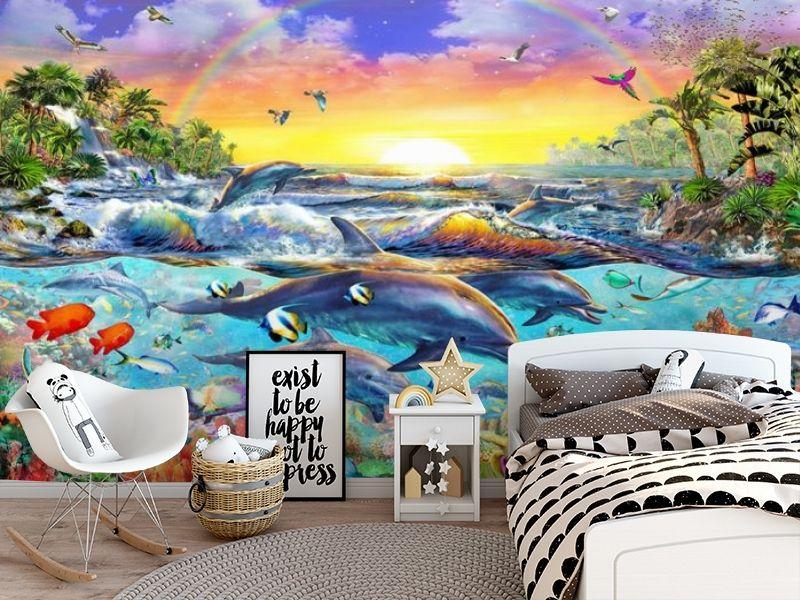 3D Фотообои «Дельфины. Сказочный остров» вид 5
