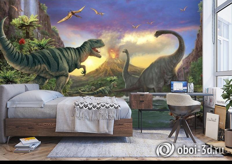 3D Фотообои «Величественные динозавры» вид 5