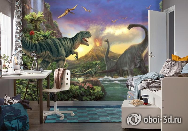 3D Фотообои «Величественные динозавры» вид 4