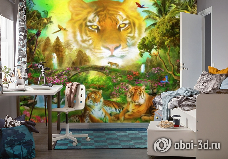 3D Фотообои «Тигриная долина» вид 4