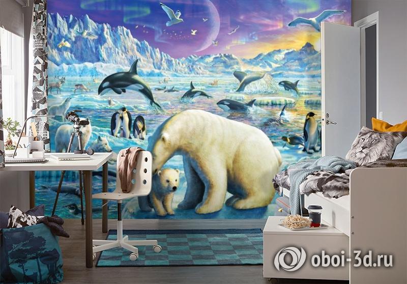 3D Фотообои «Обитатели крайнего севера» вид 4