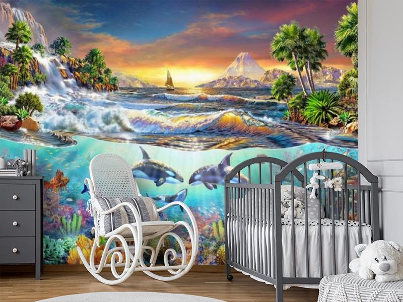 3D Фотообои «Косатки. Сказочные острова» вид 7