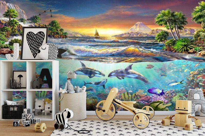 3D Фотообои «Косатки. Сказочные острова» вид 2