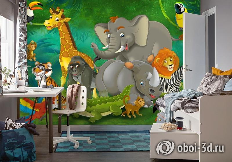 3D Фотообои «Тропическая сказка» вид 4