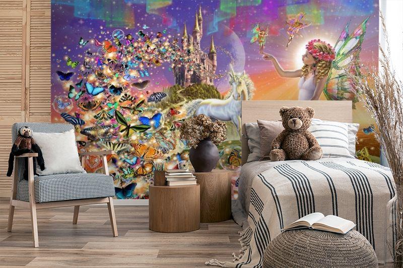 3D Фотообои «Фея в окружении бабочек» вид 4