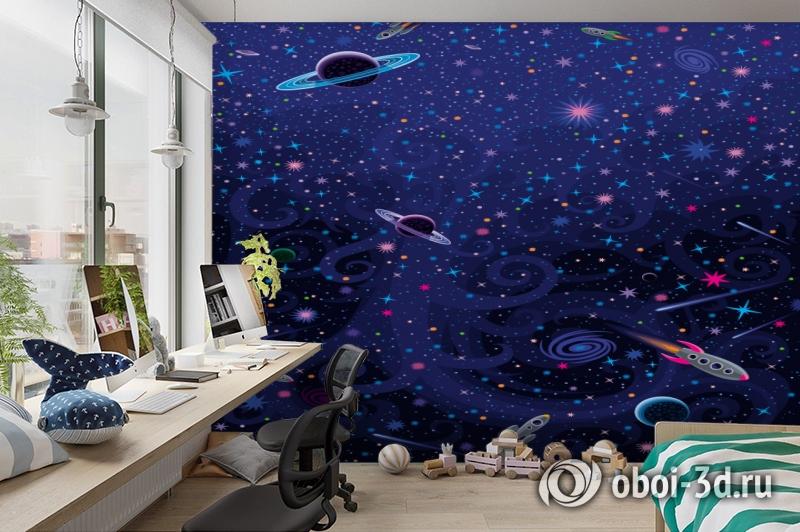 3D Фотообои «Космический узор» вид 3