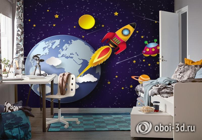3D Фотообои «Космос для детской» вид 4