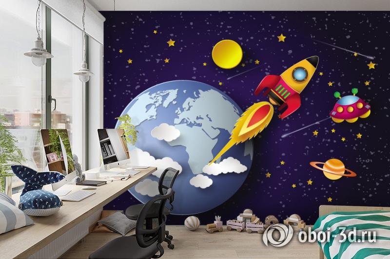 3D Фотообои «Космос для детской» вид 3
