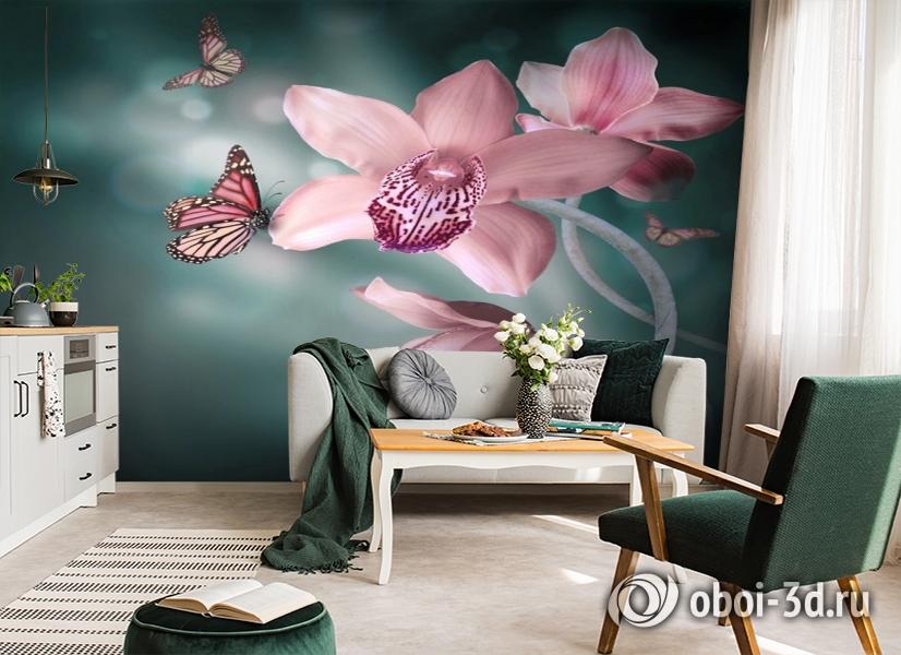 3D Фотообои «Изящная орхидея» вид 7