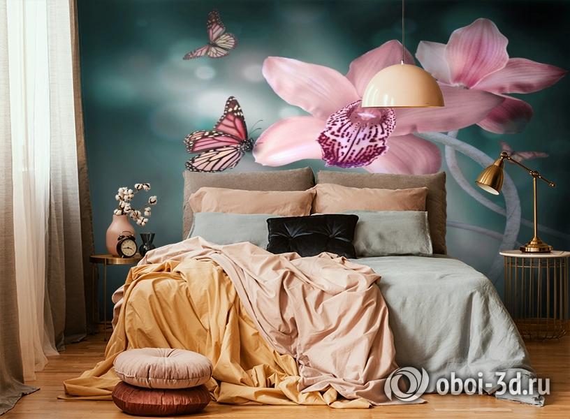 3D Фотообои «Изящная орхидея» вид 6