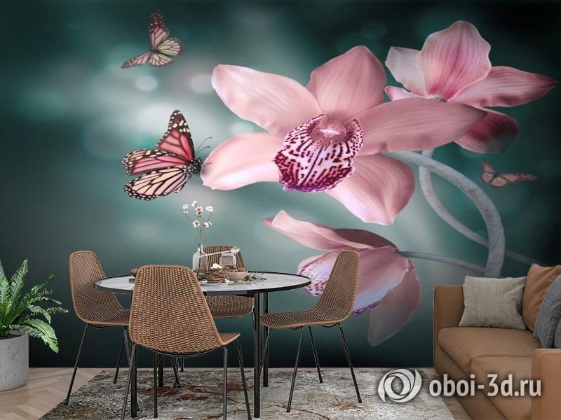 3D Фотообои «Изящная орхидея» вид 2