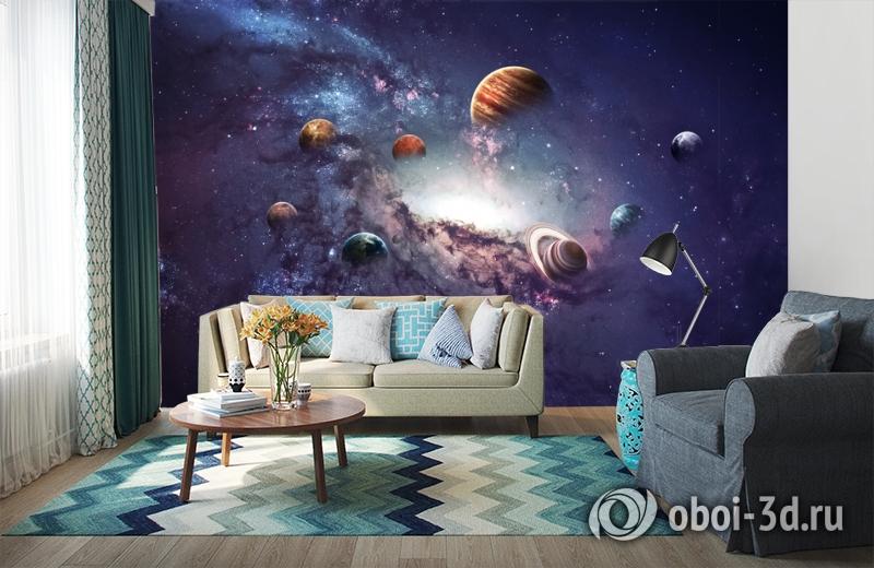 3D Фотообои «Парад планет» вид 6