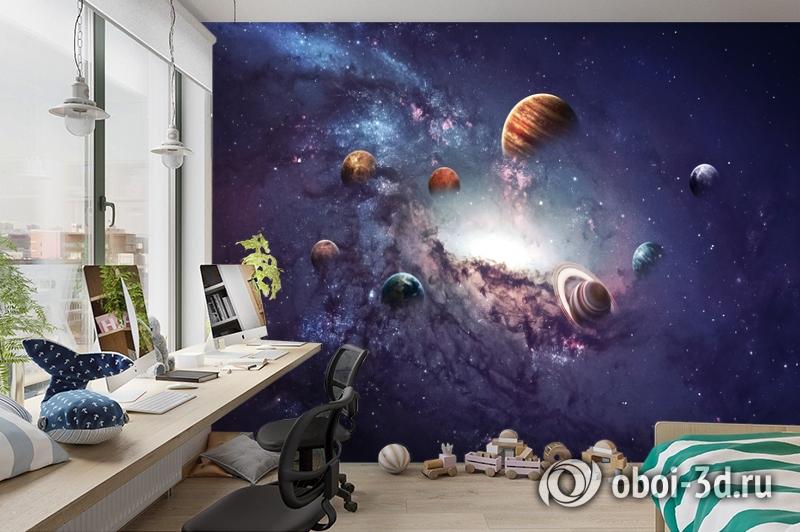 3D Фотообои «Парад планет» вид 3