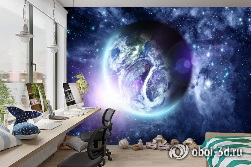 3D Фотообои «Фантастический вид на Землю» вид 3