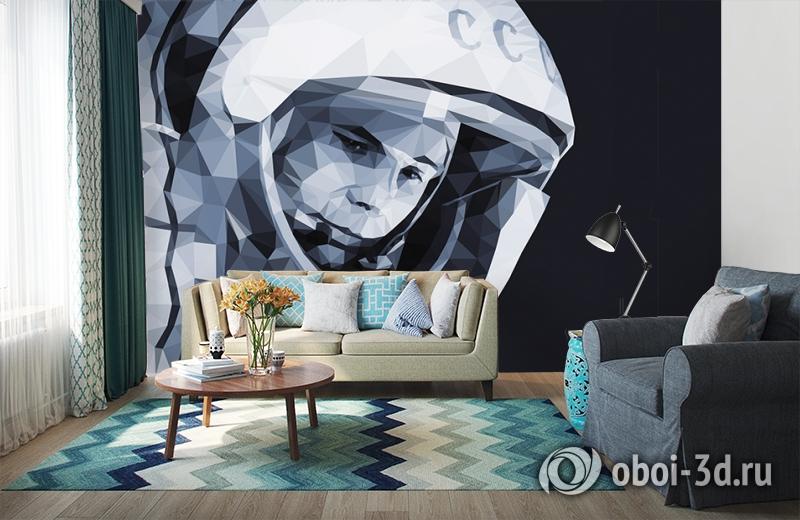 3D Фотообои «Юрий Гагарин» вид 6