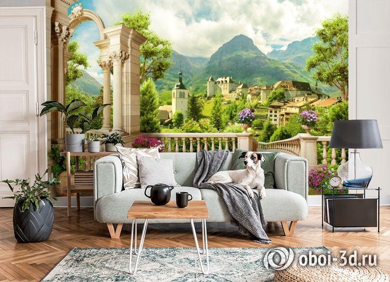 3D Фотообои «Античная терраса с видом на владения» вид 6