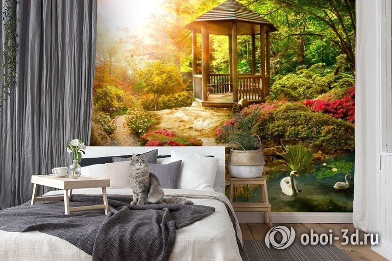 3D Фотообои «Весеннее утро в заповедном парке» вид 7