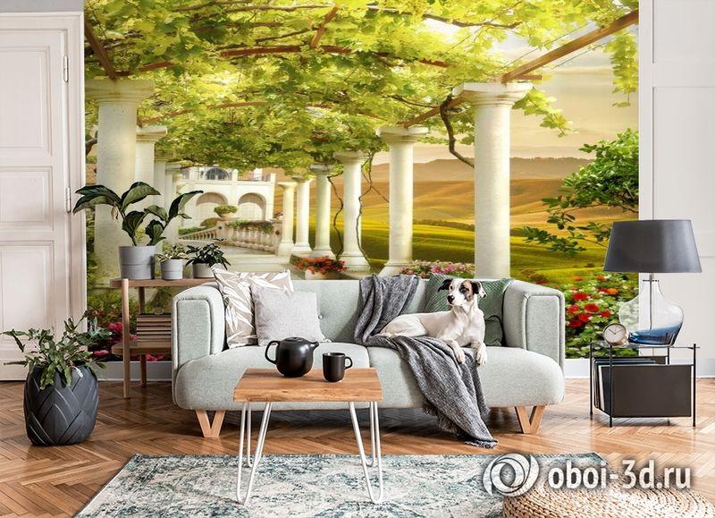 3D Фотообои «Колонны в долине винограда» вид 6