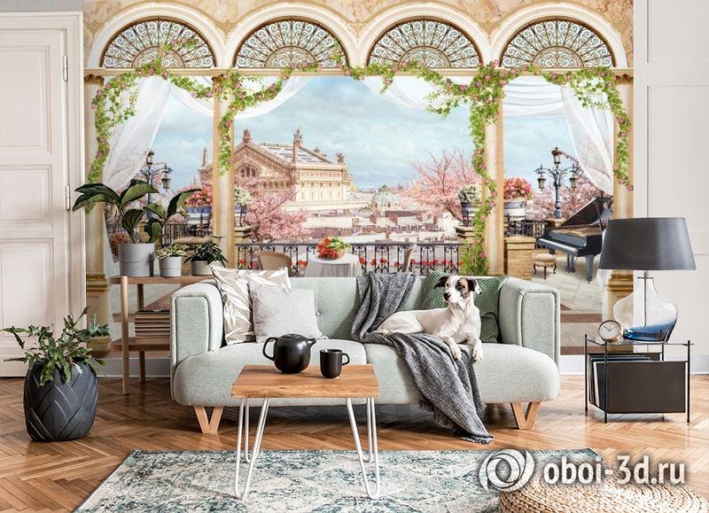 3D Фотообои «Королевская терраса» вид 6