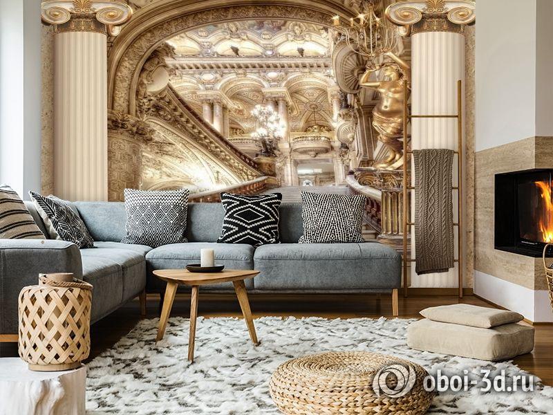 3D Фотообои «Лестница в богатом замке» вид 5