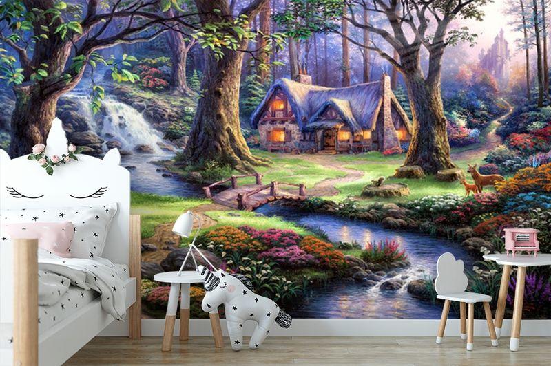 """3D Фотообои  """"Сказочный лес"""" вид 4"""