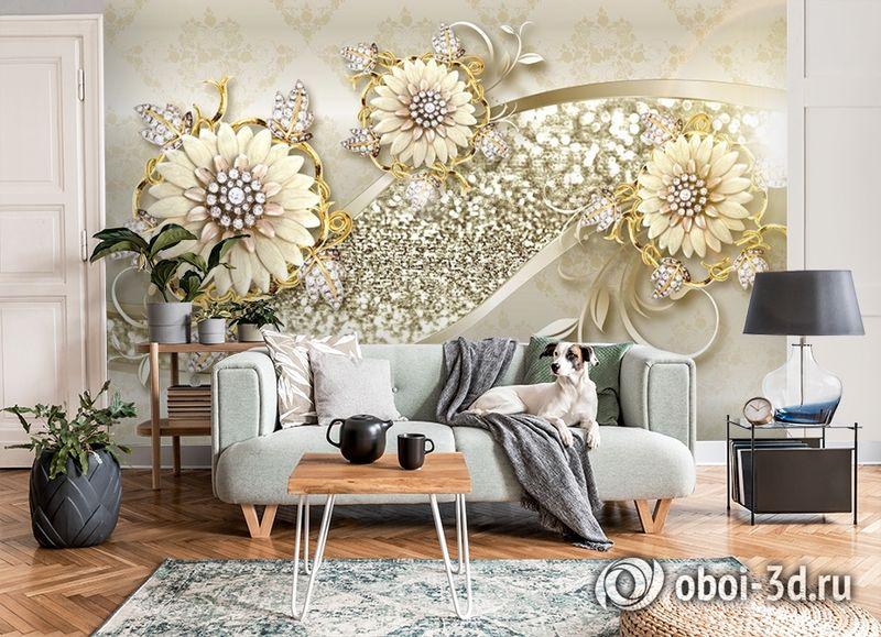 3D Фотообои «Драгоценная композиция» вид 8