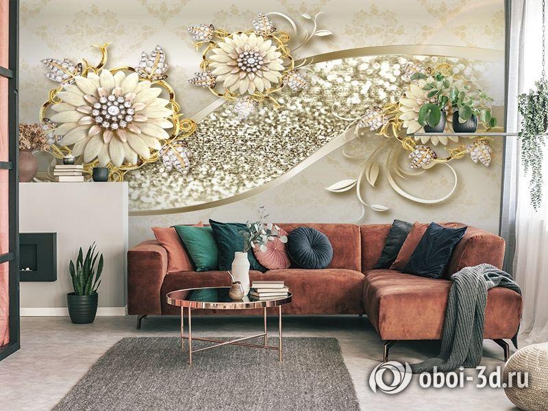 3D Фотообои «Драгоценная композиция» вид 4