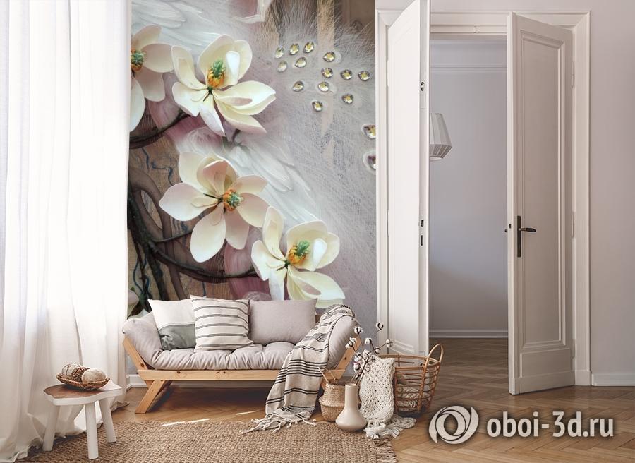 3D Фотообои «Объемная цветущая ветка» вид 8
