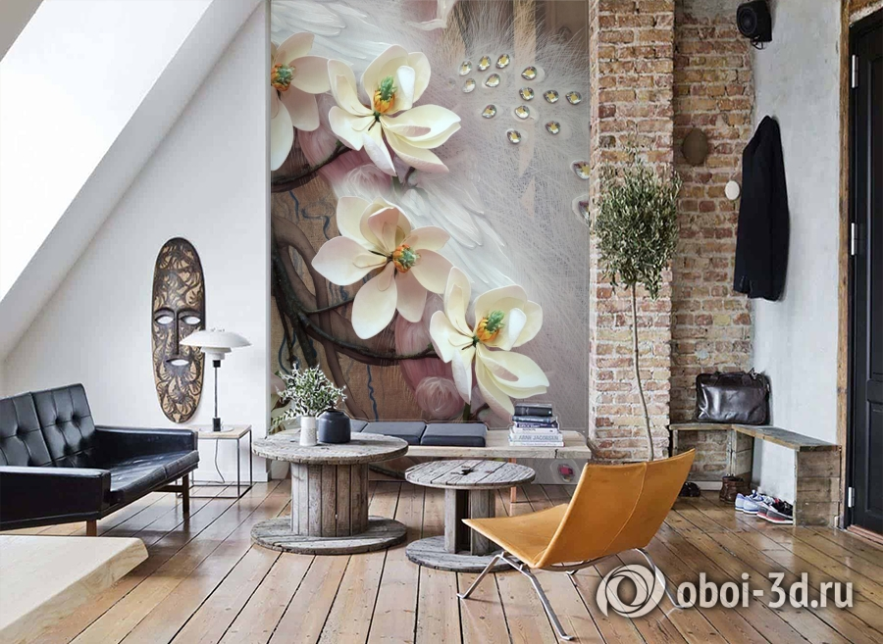 3D Фотообои «Объемная цветущая ветка» вид 7