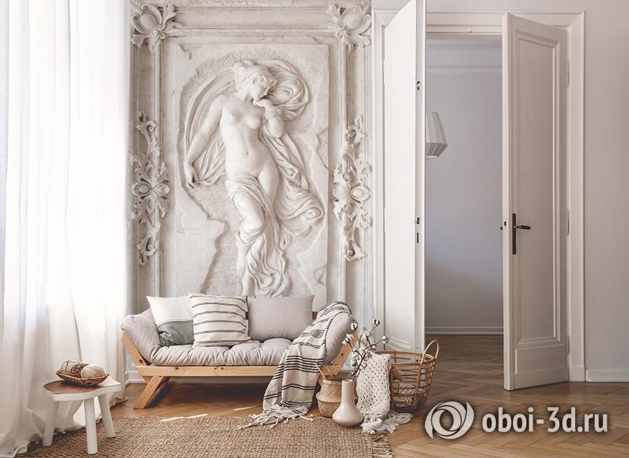 3D Фотообои «Барельеф с обнаженной девой» вид 8